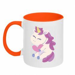 Кружка двухцветная 320ml Unicorn with love