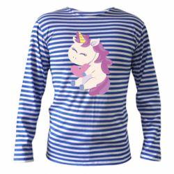 Тельняшка с длинным рукавом Unicorn with love