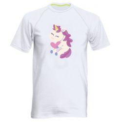 Мужская спортивная футболка Unicorn with love