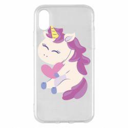 Чехол для iPhone X/Xs Unicorn with love