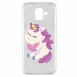 Чехол для Samsung A6 2018 Unicorn with love