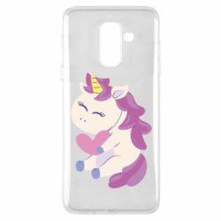 Чехол для Samsung A6+ 2018 Unicorn with love