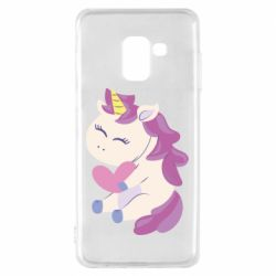 Чехол для Samsung A8 2018 Unicorn with love