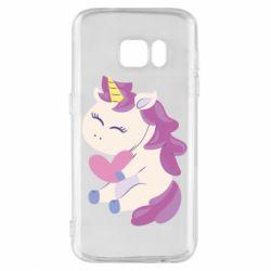 Чехол для Samsung S7 Unicorn with love