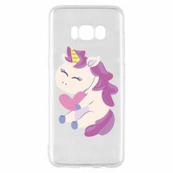 Чехол для Samsung S8 Unicorn with love