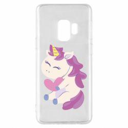 Чехол для Samsung S9 Unicorn with love