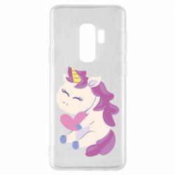 Чехол для Samsung S9+ Unicorn with love
