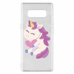 Чехол для Samsung Note 8 Unicorn with love