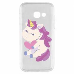 Чехол для Samsung A3 2017 Unicorn with love