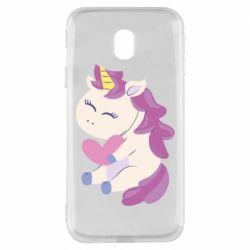 Чехол для Samsung J3 2017 Unicorn with love