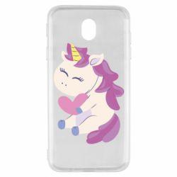 Чехол для Samsung J7 2017 Unicorn with love