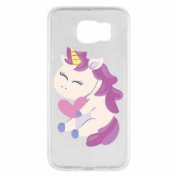 Чехол для Samsung S6 Unicorn with love