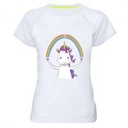 Женская спортивная футболка Unicorn