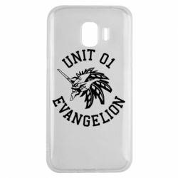 Чохол для Samsung J2 2018 Unit 01 evangelion