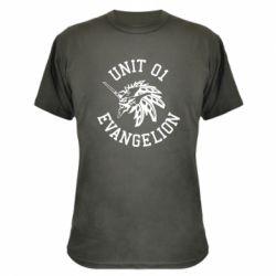 Камуфляжна футболка Unit 01 evangelion