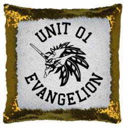 Подушка-хамелеон Unit 01 evangelion