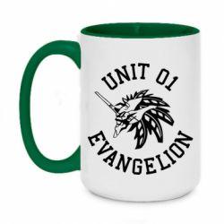 Кружка двоколірна 420ml Unit 01 evangelion