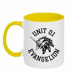 Кружка двоколірна 320ml Unit 01 evangelion