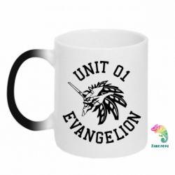 Кружка-хамелеон Unit 01 evangelion