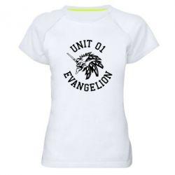 Жіноча спортивна футболка Unit 01 evangelion