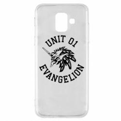 Чохол для Samsung A6 2018 Unit 01 evangelion