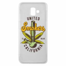 Чохол для Samsung J6 Plus 2018 United smokers st relax California