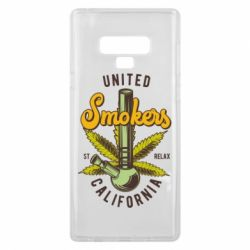 Чохол для Samsung Note 9 United smokers st relax California