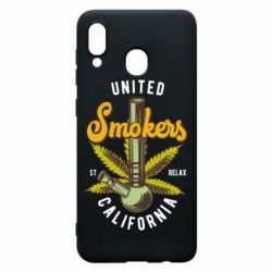 Чохол для Samsung A30 United smokers st relax California