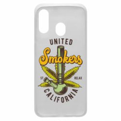 Чохол для Samsung A40 United smokers st relax California