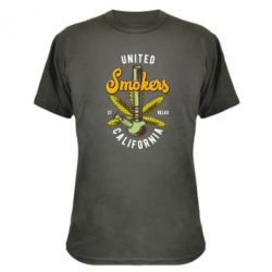 Камуфляжна футболка United smokers st relax California