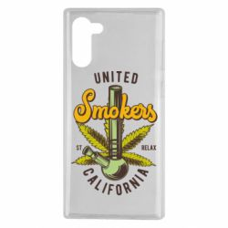 Чохол для Samsung Note 10 United smokers st relax California