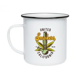 Кружка емальована United smokers st relax California