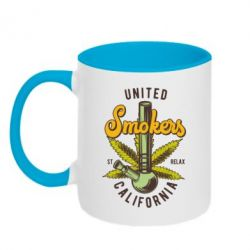 Кружка двоколірна 320ml United smokers st relax California