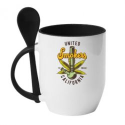 Кружка з керамічною ложкою United smokers st relax California