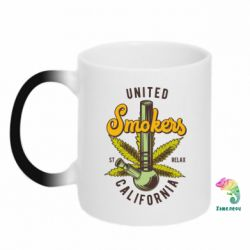 Кружка-хамелеон United smokers st relax California