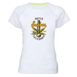 Купить Женская спортивная футболка United smokers st relax California, FatLine
