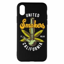 Чохол для iPhone X/Xs United smokers st relax California