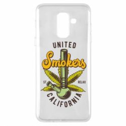 Чохол для Samsung A6+ 2018 United smokers st relax California
