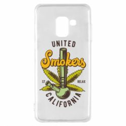 Чохол для Samsung A8 2018 United smokers st relax California