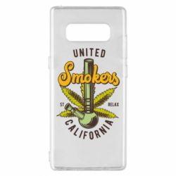 Чохол для Samsung Note 8 United smokers st relax California