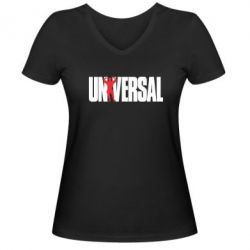 Женская футболка с V-образным вырезом Universal - FatLine