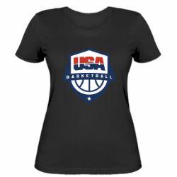 Женская футболка USA basketball