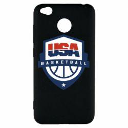 Чехол для Xiaomi Redmi 4x USA basketball
