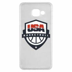 Чехол для Samsung A3 2016 USA basketball