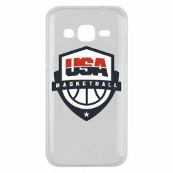 Чехол для Samsung J2 2015 USA basketball