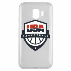 Чехол для Samsung J2 2018 USA basketball