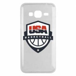 Чехол для Samsung J3 2016 USA basketball