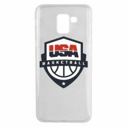Чехол для Samsung J6 USA basketball