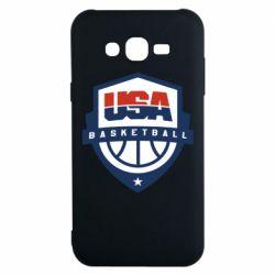 Чехол для Samsung J7 2015 USA basketball