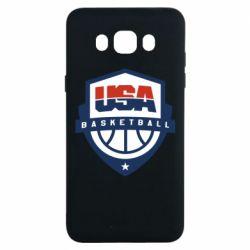 Чехол для Samsung J7 2016 USA basketball